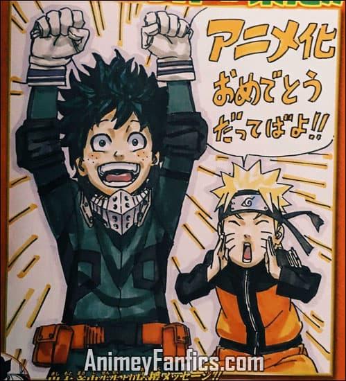 Kishimoto y Boku no hero academia